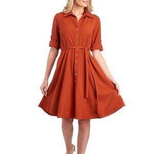 Sharagano three quart sleeve dress  fit & flare